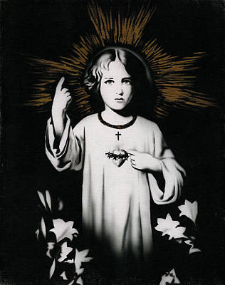 Glorious Painting - Child Christ by Luis  Navarro
