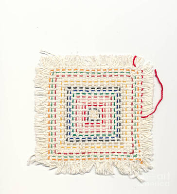 Textile Tapestry - Textile - Child Embroidery by Kerstin Ivarsson
