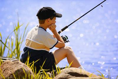 Outdoor Still Life Photograph - Child Fishing by Don Hammond
