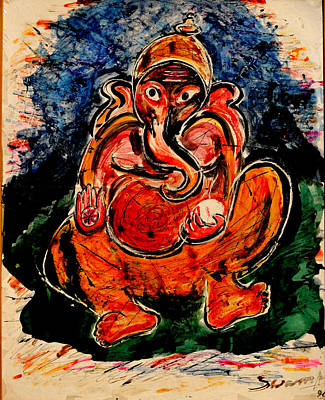 Painting - Child Ganesha-1 by Anand Swaroop Manchiraju