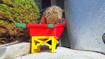 Photograph - Child In A Wheelbarrow by Mark Thomas