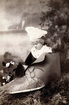 Photograph - Child In Shoe by Granger