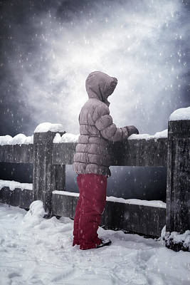 Child In Snow Print by Joana Kruse