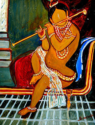 Painting - Child Krishna by Anand Swaroop Manchiraju