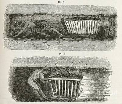 Child Labour In Mines, 1840s Art Print