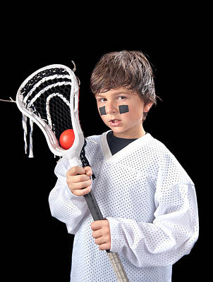 Youth Hockey Photograph - Child Lacrosse Player by Joe Belanger
