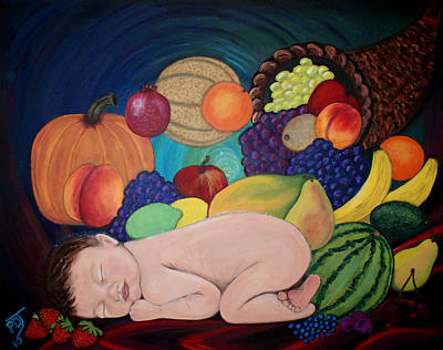Child Of Plenty Art Print by Pamorama Jones