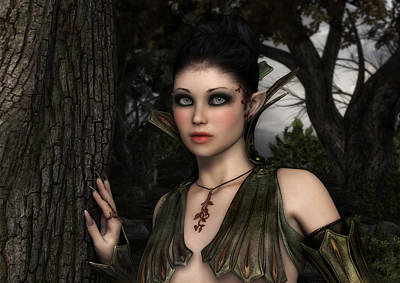 Digital Art - Child Of The Forest by Rachel Dudley