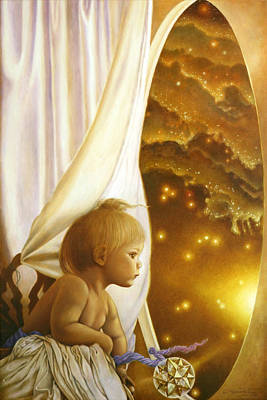 Cosmos Painting - Child Of Wonder by Michael Z Tyree