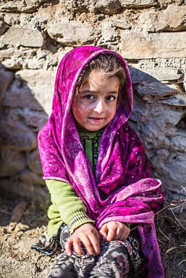 Kalash Photograph - Child Portrait by Umair Siddiqui
