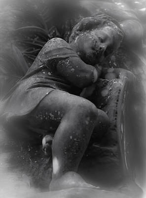 Photograph - Child Statue by Jennifer Burley