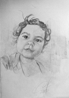 Drawing - Child by Vaidos Mihai