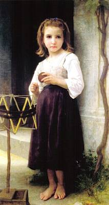 Digital Art - Child With A Ball Of Wool by William Bouguereau