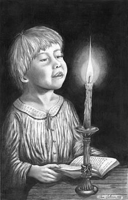 Child With Divine Mesmorization Art Print by Pierre Salsiccia