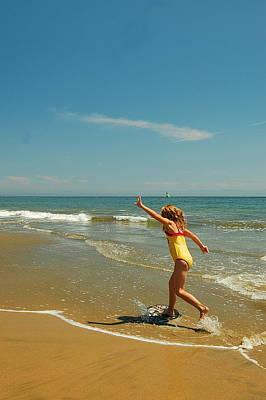 Photograph - Childhood Beach Fun by Tamyra Crossley