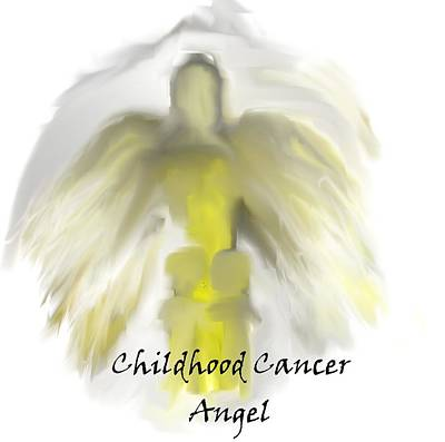 Painting - Childhood Cancer Awareness Angel by Jessica Wright