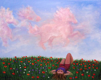 Painting - Childhood Day Dreams by Janet Greer Sammons