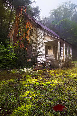 Barn In Woods Photograph - Childhood Dreams by Debra and Dave Vanderlaan