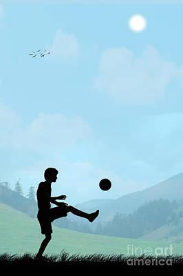 Childhood Dreams Football Art Print by John Edwards