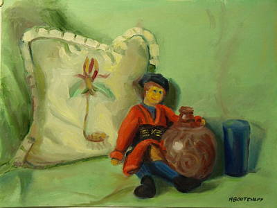 Painting - Childhood Dreams Rag Doll by Nicolas Bouteneff