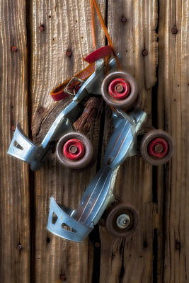Childhood Skates Art Print by Garry Gay