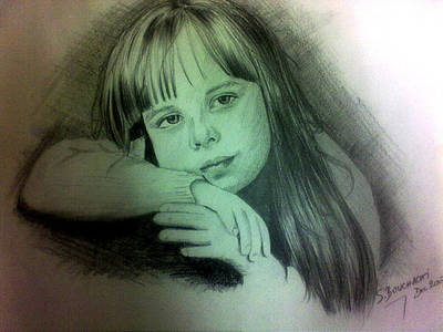 Drawing - Childhood by Soumya Bouchachi