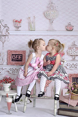 Photograph - Children Bff by J R Baldini Master Photographer