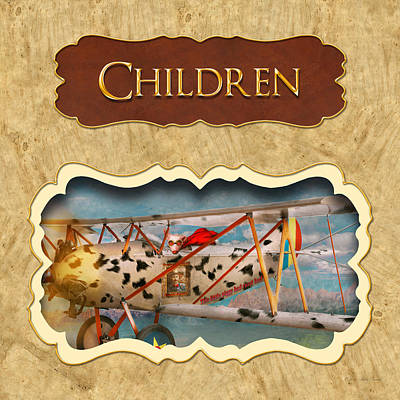 Children Button Print by Mike Savad