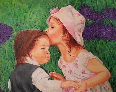 Grandkids Drawing - Children by Darcie Cristello