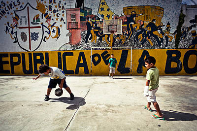 Children From La Boca Art Print