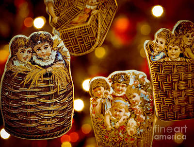 Children In Baskets Print by Amy Cicconi
