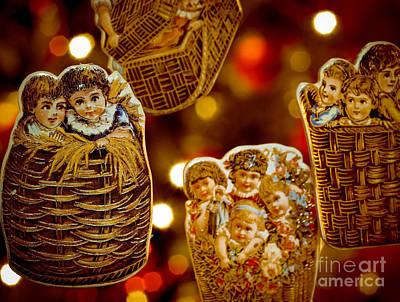 Children In Baskets Art Print