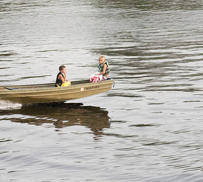 Photograph - Children In The Boat by Lee Hartsell