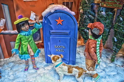Children Mailing Their Letters To Santa Hdr Art Print by Thomas Woolworth