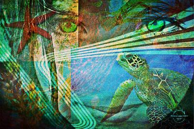Digital Art - Children Of The Sea by Absinthe Art By Michelle LeAnn Scott