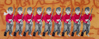 Israeli Photograph - Children Of War, Children Of Peace, 1996 Silkscreen On Canvas See Also 279271 by Laila Shawa