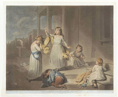 Children Play A Tragedy, Charles Howard Hodges Art Print by Charles Howard Hodges And John Raphael Smith