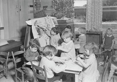 Depression Painting - Children Playing At A Wpa Nursery by Stocktrek Images