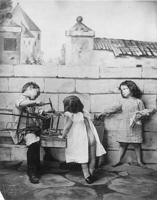 Photograph - Children Playing, C1900 by Granger