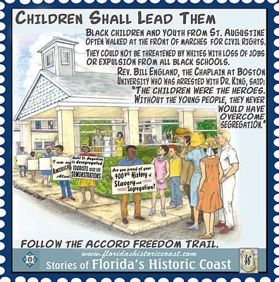 Segregation Mixed Media - Children Shall Lead Them by Warren Clark