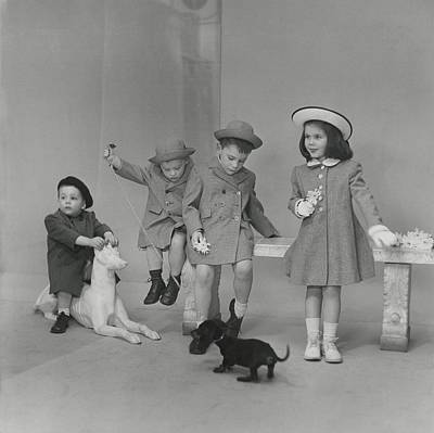2-3 Years Photograph - Children Wearing Coats And Hats by Frances McLaughlin-Gill