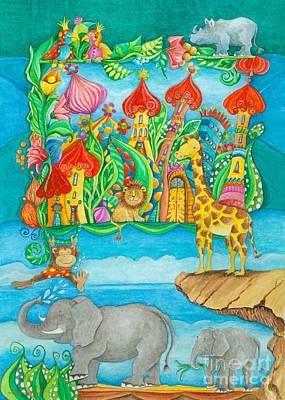 Fantastic Painting - Children Zoo by Sonja Mengkowski