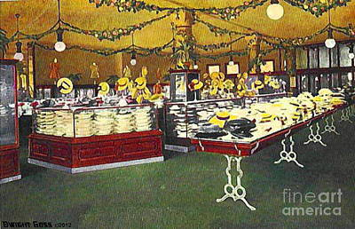 Painting - Children's And Misses' Hats Section In Mabley And Carew Department Store In Cincinnati Oh 1910 by Dwight Goss
