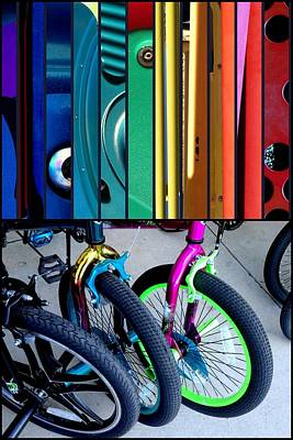 Photograph - Children's Bikes by Marlene Burns