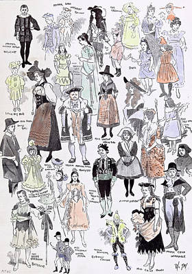 Old School House Drawing - Childrens Fancy Dress At The Mansion House 1892 Mastor by English School