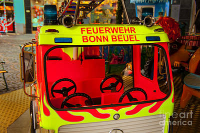 Photograph - Childrens Firetruck Bonn by Rick Bragan
