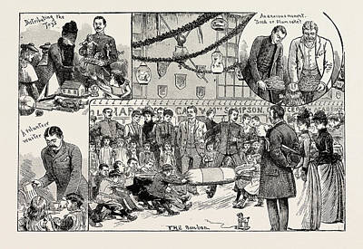 Childrens New Years Party Given At The Royal Military Art Print by English School