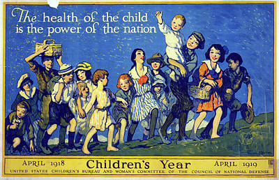 Luis Drawing - Children's Year, 1918 by Granger