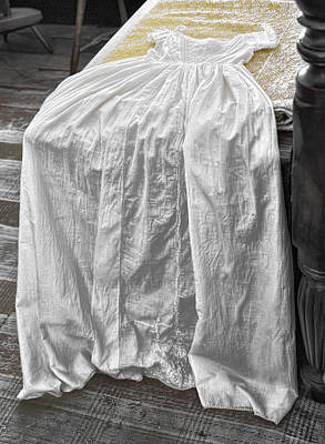 Photograph - Child's Christening Gown by Sharon Popek
