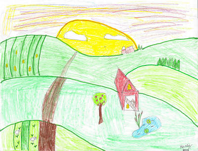 Photograph - Child's Farm Sunrise Drawing by Karlie White